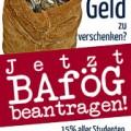 Plakat Jetzt Bafög beantragen
