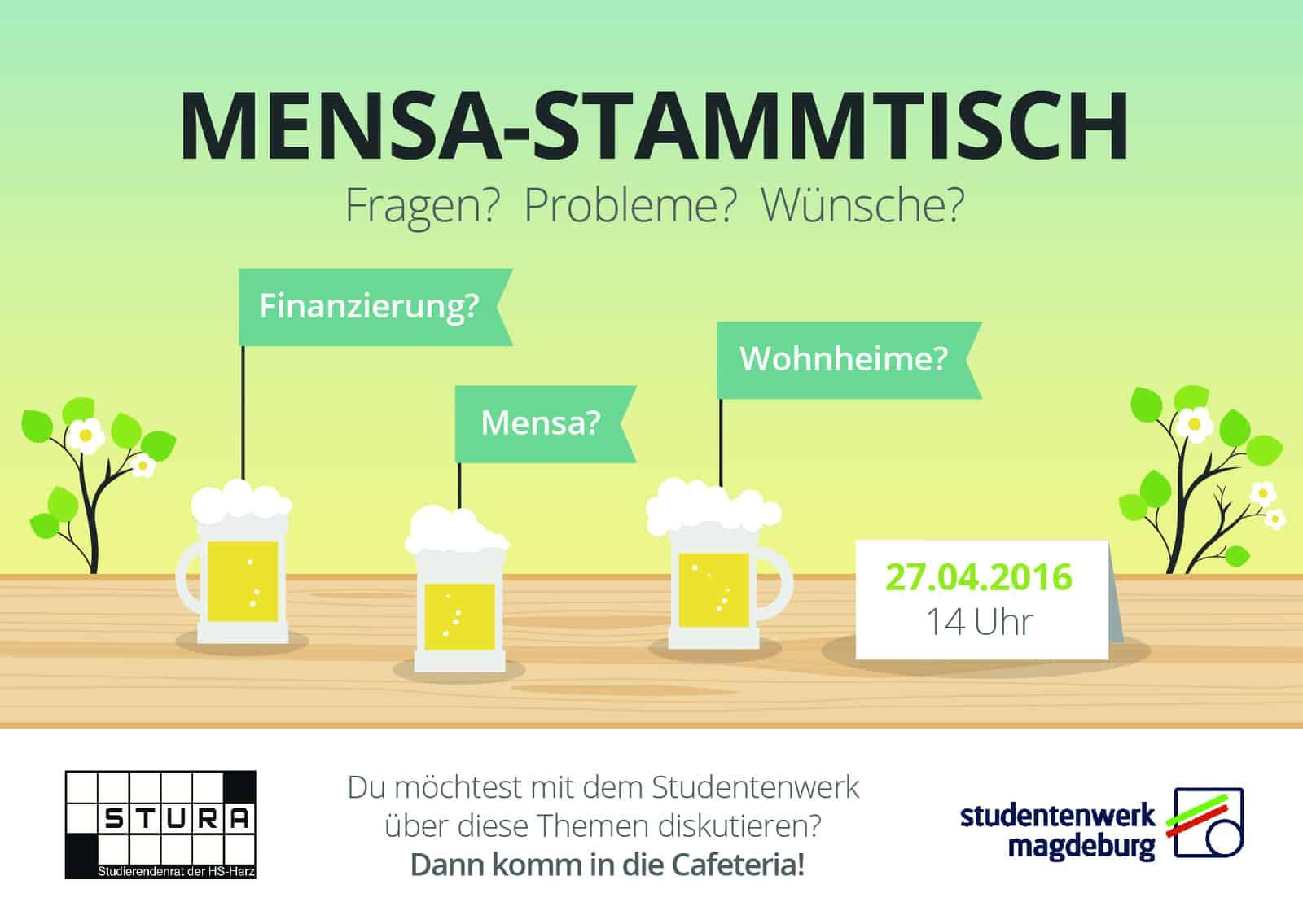 MensaStammtisch-Sommersemester 27.04.
