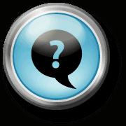 Fragezeichen in Sprechblase