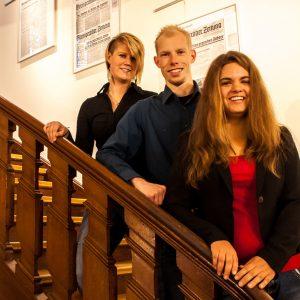 v.l.n.r.): Jana Schalk, Michael Hansen und Anita Siemens sind die Projektleiter des Themenforums 2013 und freuen sich auf interessante Vorträge und zahlreiche Gäste.