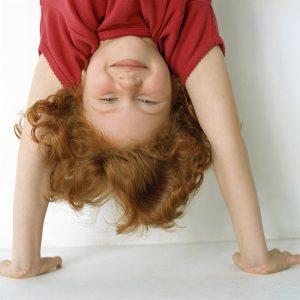 Little Girl Doing Handstand