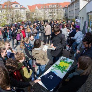 Kampagnenauftakt für den Campus Day (Foto Stefan Berger)