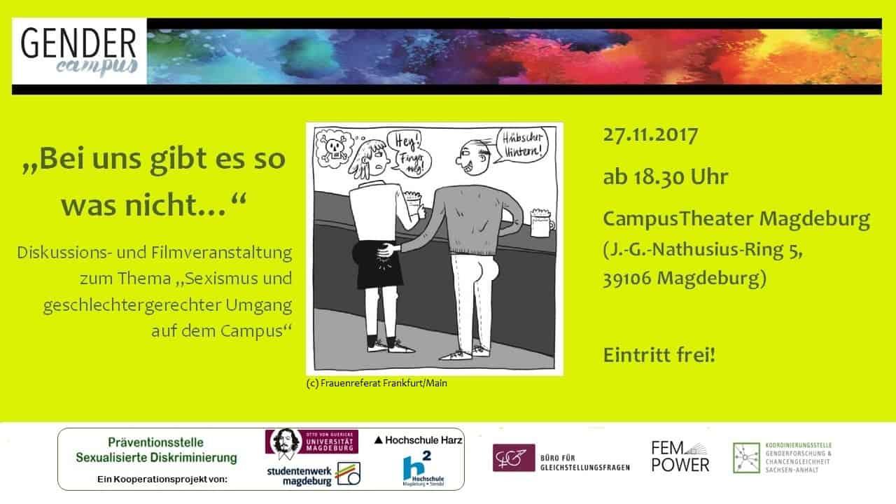 Veranstaltung Sexismus Bewerbung Studentenwerk MD
